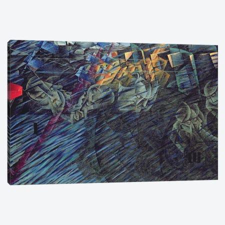 States of Mind: Those Who Go, 1911  Canvas Print #BMN3811} by Umberto Boccioni Canvas Artwork