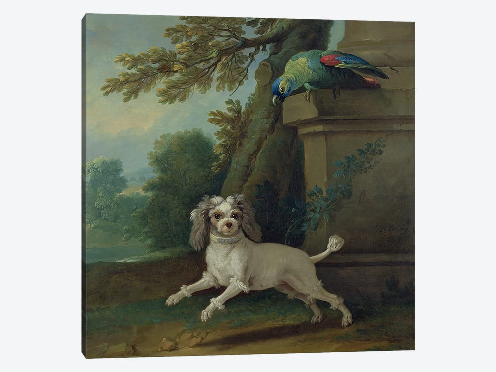 Zaza, the dog, c.1730 by Jean-Baptiste Oudry 1-piece Canvas Art Print