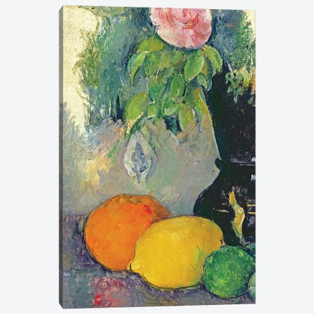 Flowers and fruits, c.1880   Canvas Print #BMN3817} by Paul Cezanne Art Print