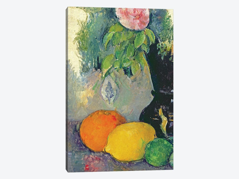 Flowers and fruits, c.1880   by Paul Cezanne 1-piece Canvas Art