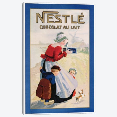 Advertisement for Nestle Chocolat au Lait, c.1920  Canvas Print #BMN3819} by Unknown Artist Canvas Art
