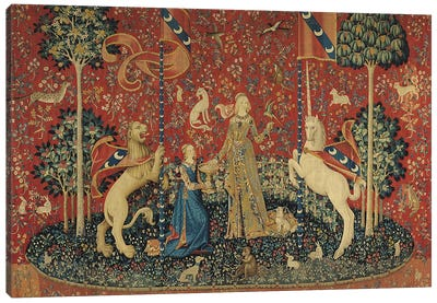 The Lady and the Unicorn: 'Taste'  Canvas Art Print