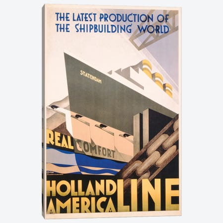 Advertisement for the Holland America Line, c.1932  Canvas Print #BMN3820} by Hoff Art Print