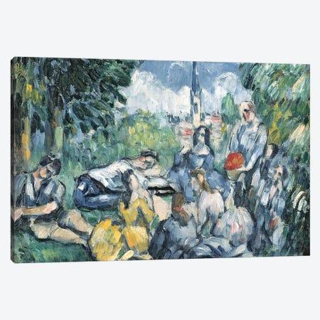 Dejeuner sur l'herbe, 1876-77   Canvas Print #BMN3822} by Paul Cezanne Art Print