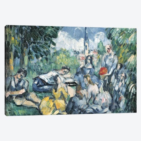 Dejeuner sur l'herbe, 1876-77   Canvas Print #BMN3822} by Paul Cezanne Art Print