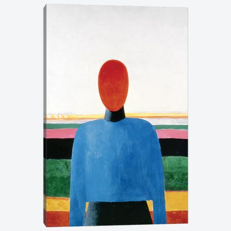 Bust of Woman  Canvas Print #BMN3825} by Kazimir Severinovich Malevich Canvas Artwork
