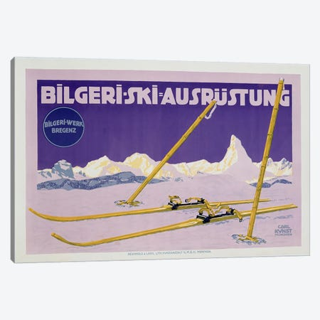 Advertisement for skiing in Austria, c.1912  Canvas Print #BMN3829} by Carl Kunst Art Print