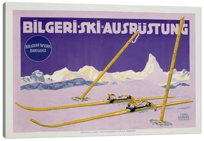 Advertisement for skiing in Austria, c.1912  Canvas Art Print
