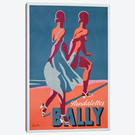 Advertisement for Bally sandals, 1935  Canvas Print #BMN3830} by Gerald Canvas Artwork