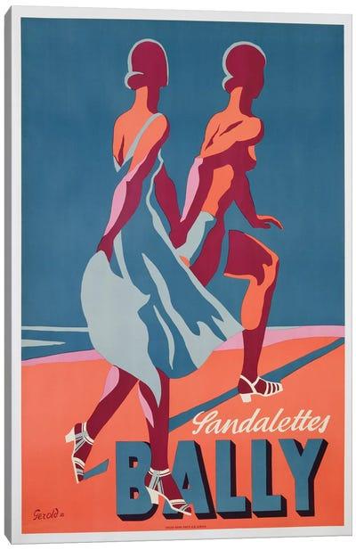 Advertisement for Bally sandals, 1935  Canvas Art Print