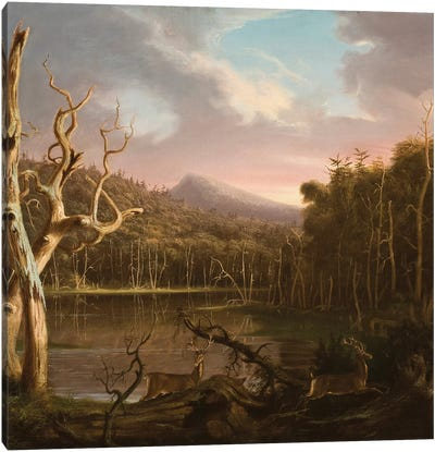 Lake with Dead Trees  Canvas Art Print