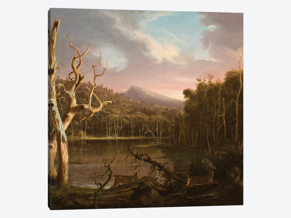 Lake with Dead Trees  by Thomas Cole 1-piece Canvas Art Print