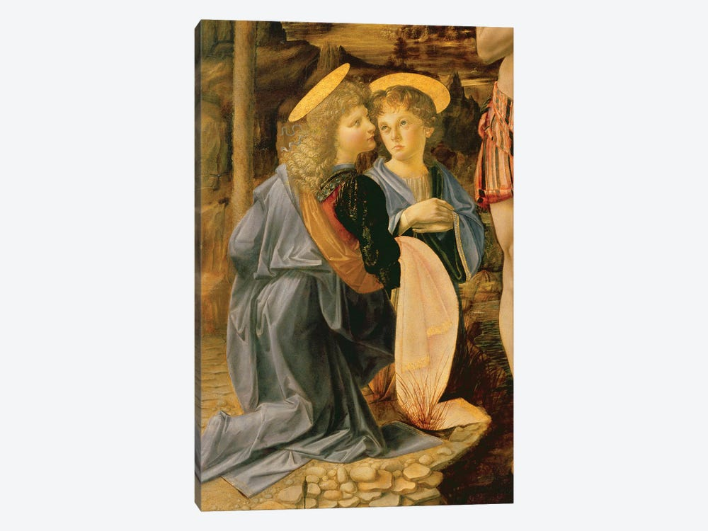 The Baptism of Christ by John the Baptist, c.1475   by Andrea del Verrocchio 1-piece Canvas Artwork