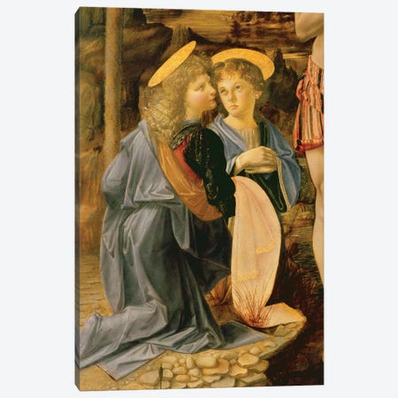 The Baptism of Christ by John the Baptist, c.1475   Canvas Print #BMN3835} by Andrea del Verrocchio Art Print