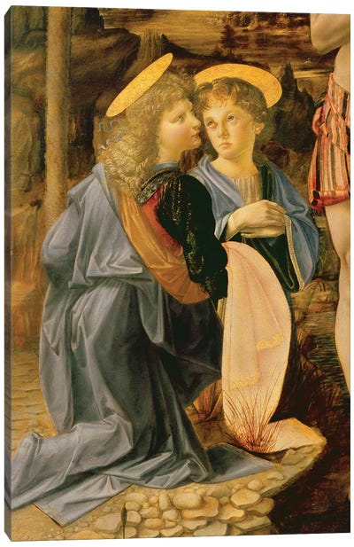 The Baptism of Christ by John the Baptist, c.1475   Canvas Art Print