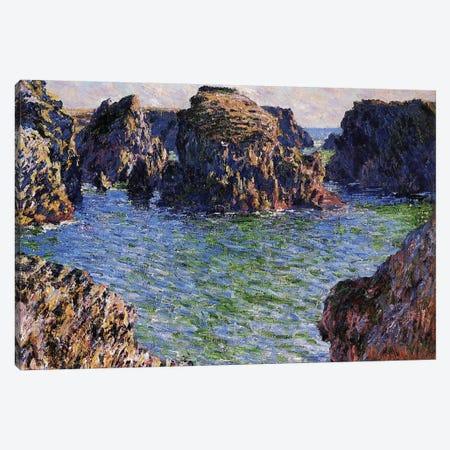Port-Goulphar, Belle-Ile, Brittany, 1886  Canvas Print #BMN3837} by Claude Monet Canvas Print