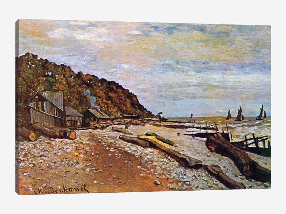 Boatyard near Honfleur, 1864  by Claude Monet 1-piece Canvas Wall Art
