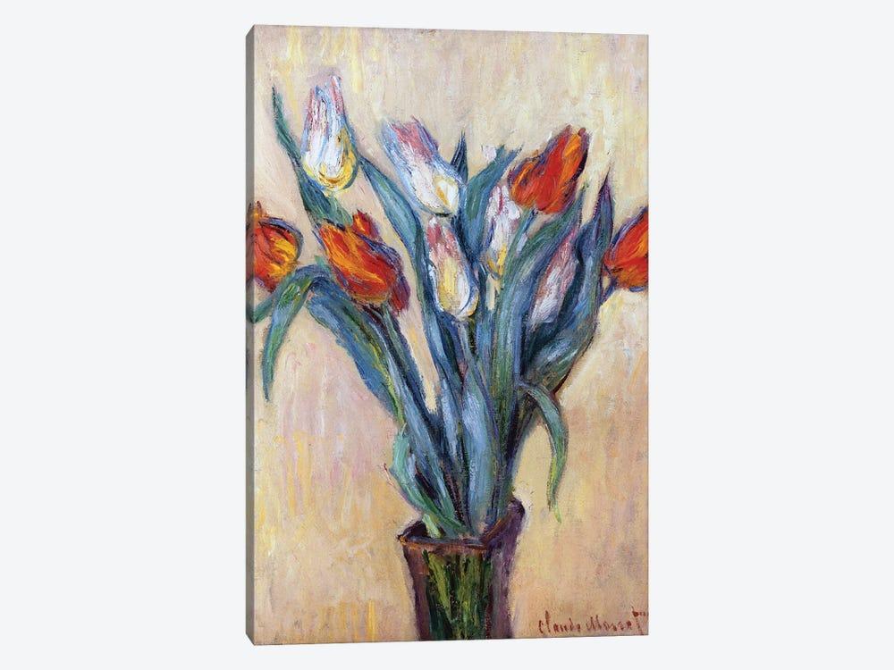 Tulips, 1885  by Claude Monet 1-piece Canvas Print