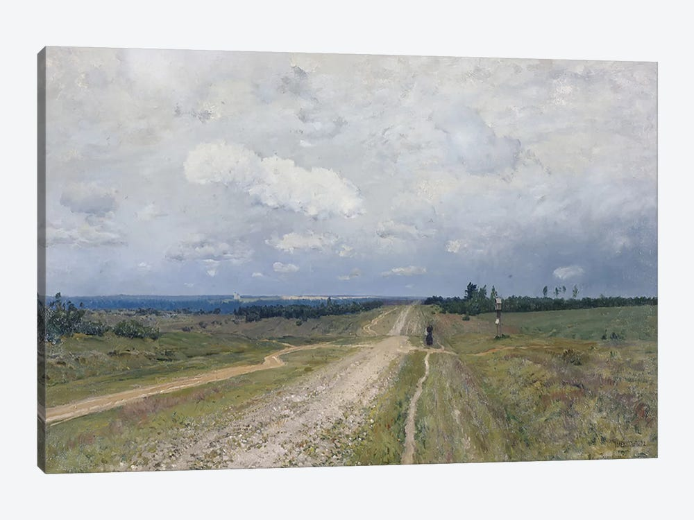 The Vladimirka Road, 1892 by Isaak Ilyich Levitan 1-piece Canvas Print