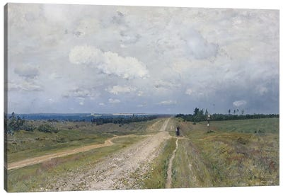 The Vladimirka Road, 1892  Canvas Art Print