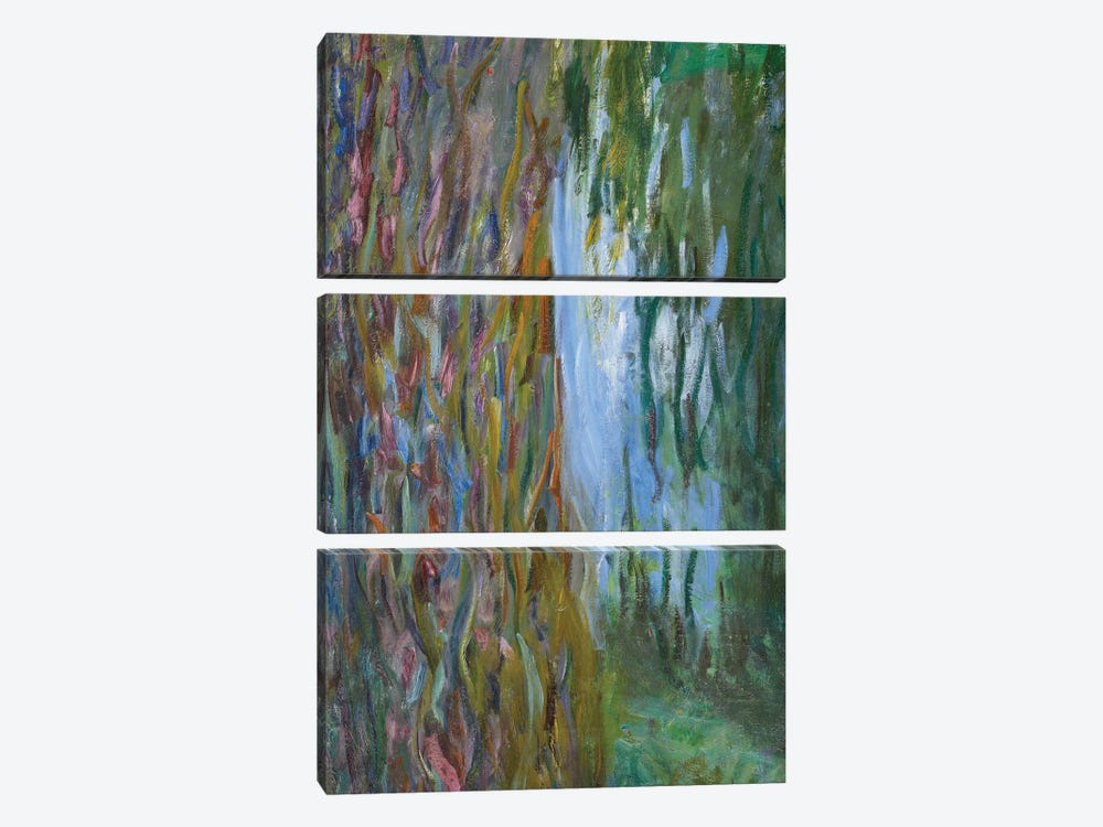 Weeping Willow and the Waterlily Pond, 1916-19  by Claude Monet 3-piece Canvas Art Print