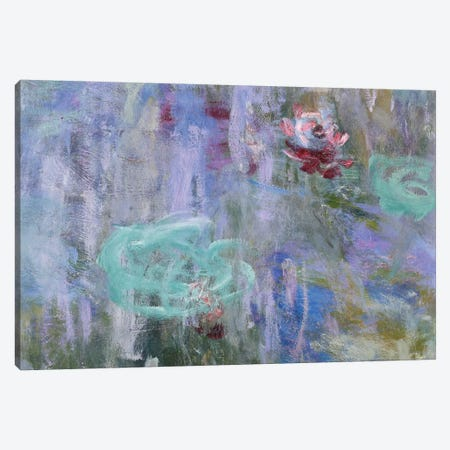 Waterlilies and Reflections of a Willow Tree, 1916-19  Canvas Print #BMN3864} by Claude Monet Canvas Artwork