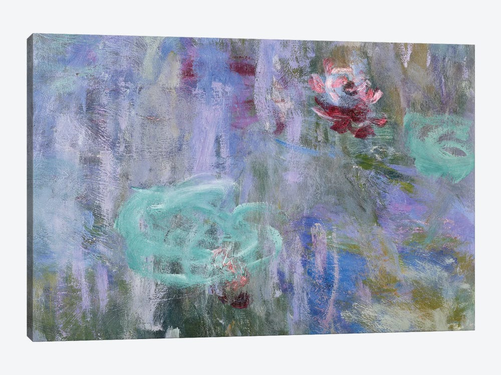 Waterlilies and Reflections of a Willow Tree, 1916-19  by Claude Monet 1-piece Canvas Wall Art