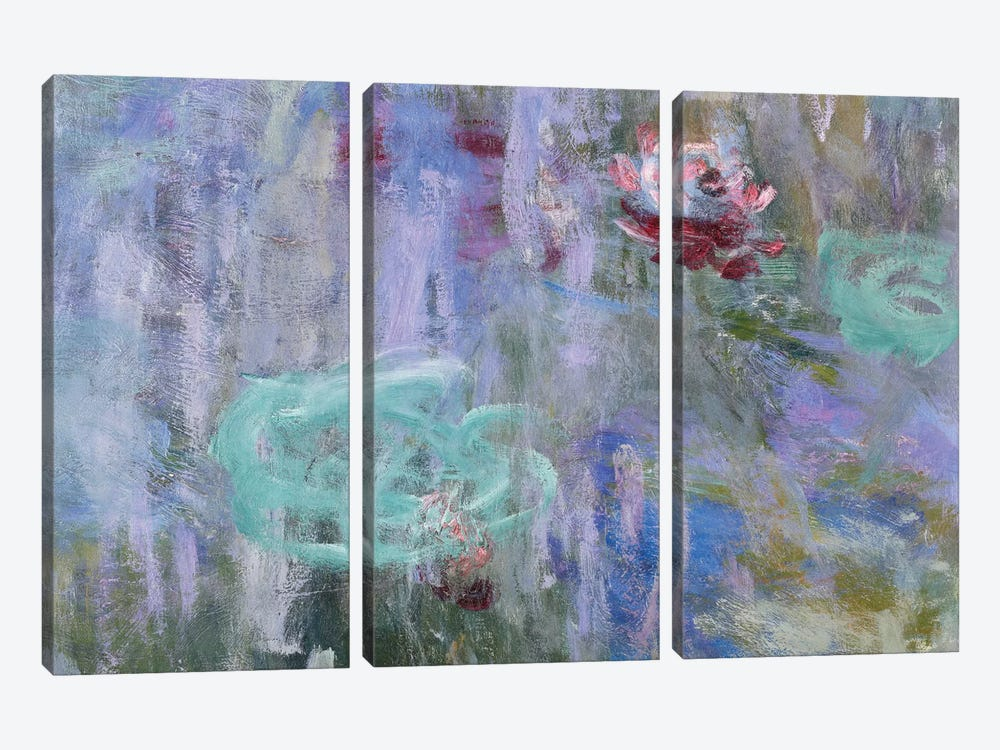 Waterlilies and Reflections of a Willow Tree, 1916-19  by Claude Monet 3-piece Canvas Artwork