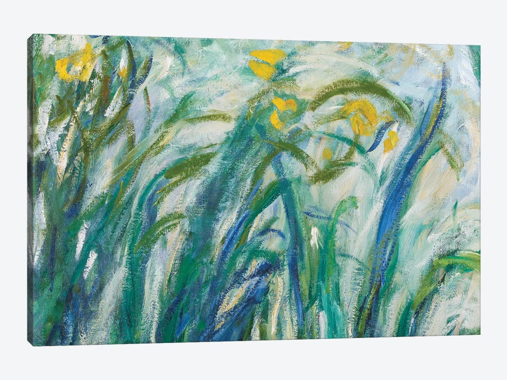 Yellow and Purple Irises, 1924-25  by Claude Monet 1-piece Canvas Wall Art