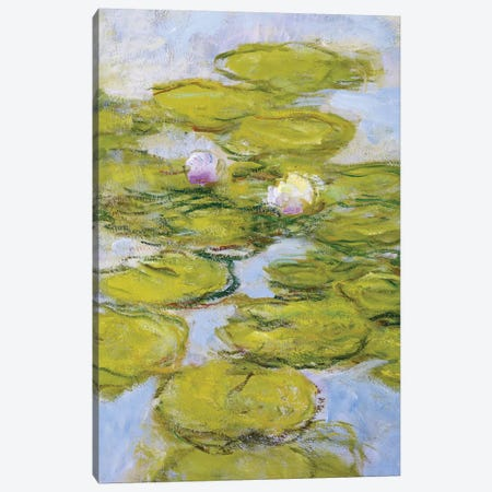 Nympheas, 1916-19  Canvas Print #BMN3867} by Claude Monet Canvas Wall Art