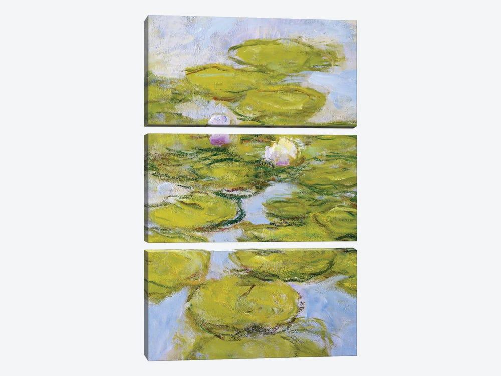 Nympheas, 1916-19  by Claude Monet 3-piece Canvas Art Print