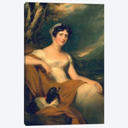 Hon. Emma Cunliffe, later Emma Cunliffe-Offley, c.1809-30  Canvas Print #BMN3874} by Sir Thomas Lawrence Art Print