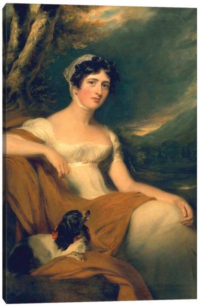 Hon. Emma Cunliffe, later Emma Cunliffe-Offley, c.1809-30  Canvas Art Print