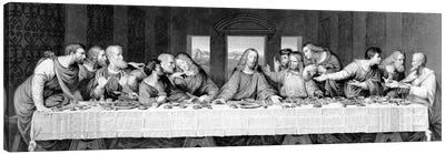 The Last Supper, engraved by Frederick Bacon, 1863  Canvas Art Print