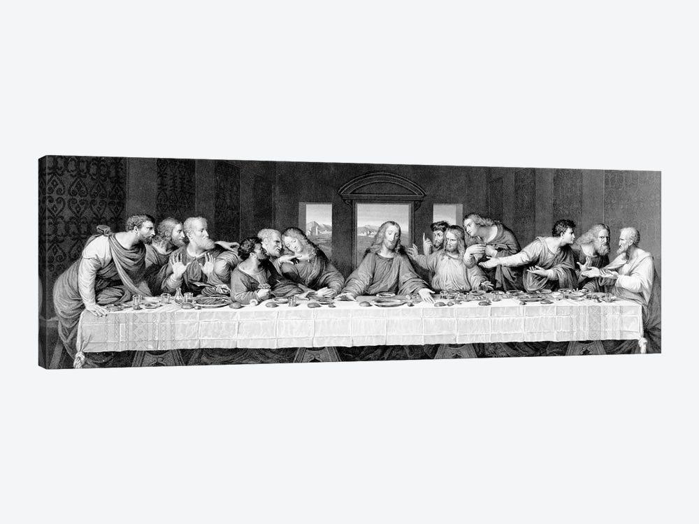The Last Supper, engraved by Frederick Bacon, 1863  by Leonardo da Vinci 1-piece Canvas Print