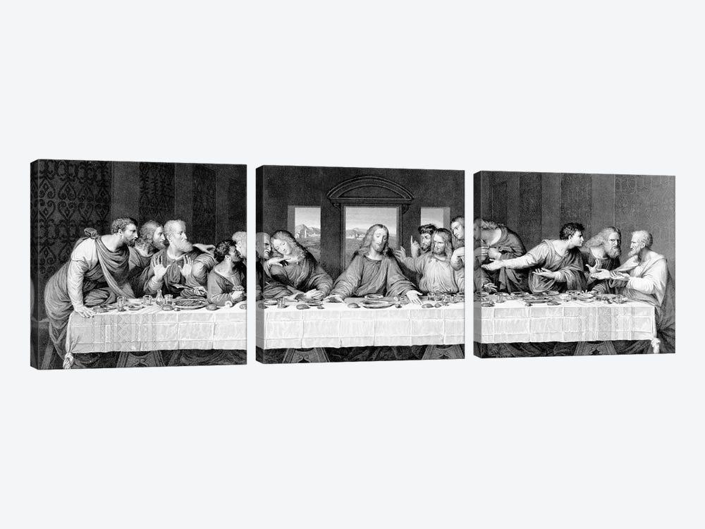 The Last Supper, engraved by Frederick Bacon, 1863  by Leonardo da Vinci 3-piece Art Print