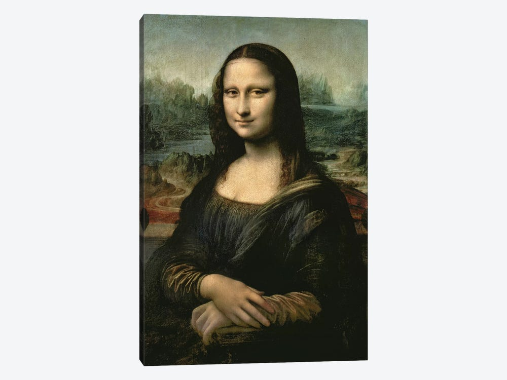 Mona Lisa, c.1503-6  by Leonardo da Vinci 1-piece Canvas Wall Art
