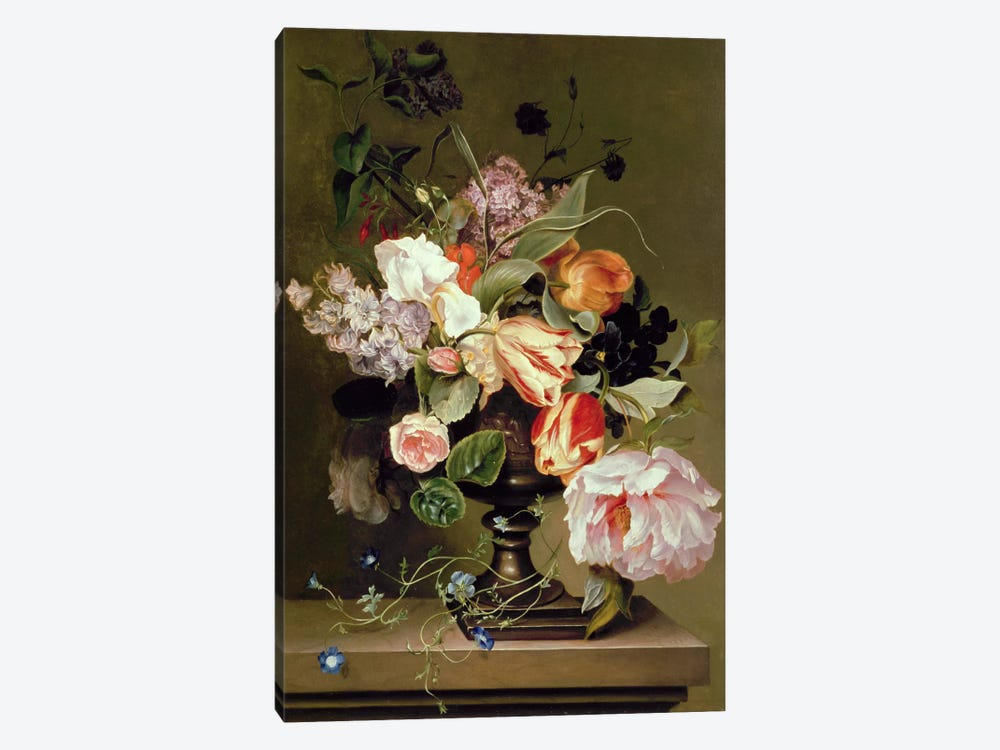 Still life with flowers by Marie Geertruida Snabille 1-piece Canvas Wall Art