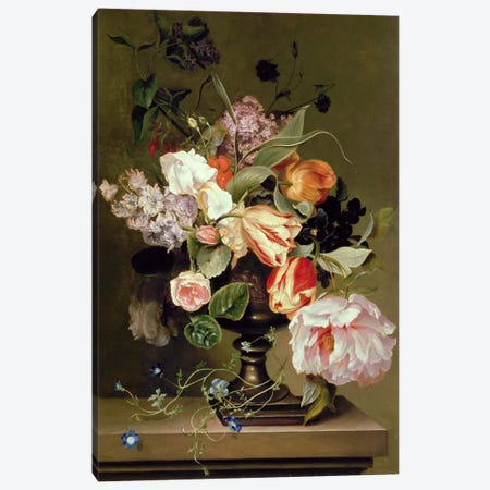 Still life with flowers  Canvas Print #BMN387} by Marie Geertruida Snabille Canvas Wall Art