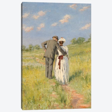 Portrait of Captain William Holmes and Mary Shafter McKitterick, 1888  Canvas Print #BMN3882} by American School Canvas Art Print