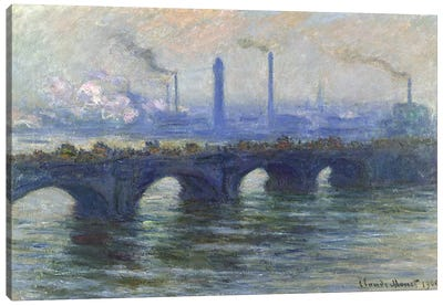 Waterloo Bridge, London, 1900  Canvas Print #BMN3884