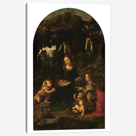 Madonna of the Rocks, c.1478  Canvas Print #BMN3888} by Leonardo da Vinci Canvas Art Print