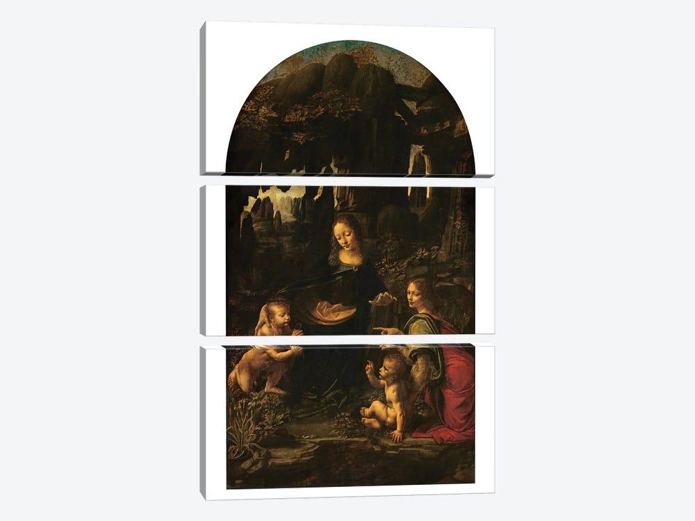 Madonna of the Rocks, c.1478  by Leonardo da Vinci 3-piece Canvas Art