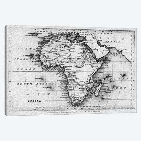Map of Africa, engraved by Thomas Stirling, published by Edward Bull, 1830  Canvas Print #BMN3891} by English School Canvas Artwork