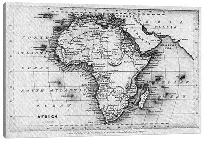 Map of Africa, engraved by Thomas Stirling, published by Edward Bull, 1830  Canvas Art Print