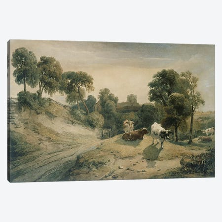 Kneeton-on-the-Hill, c.1815-16  Canvas Print #BMN3893} by Peter de Wint Canvas Art