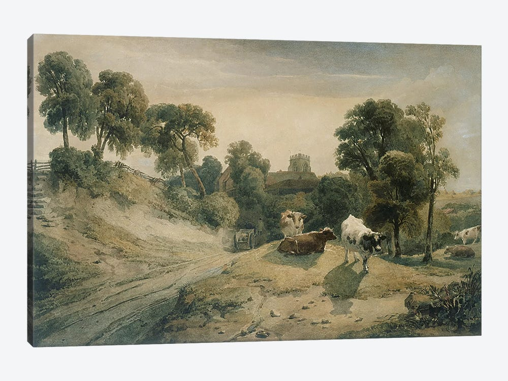 Kneeton-on-the-Hill, c.1815-16 by Peter de Wint 1-piece Canvas Wall Art