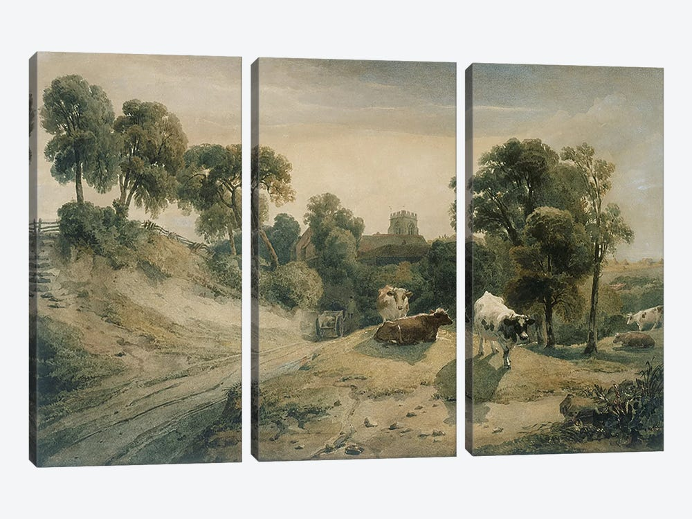 Kneeton-on-the-Hill, c.1815-16 by Peter de Wint 3-piece Canvas Art