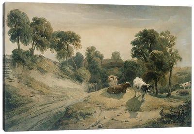 Kneeton-on-the-Hill, c.1815-16  Canvas Art Print