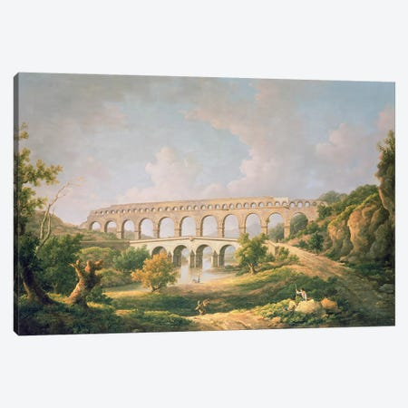 The Pont du Gard, Nimes Canvas Print #BMN389} by William Marlow Canvas Print